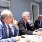 At meeting